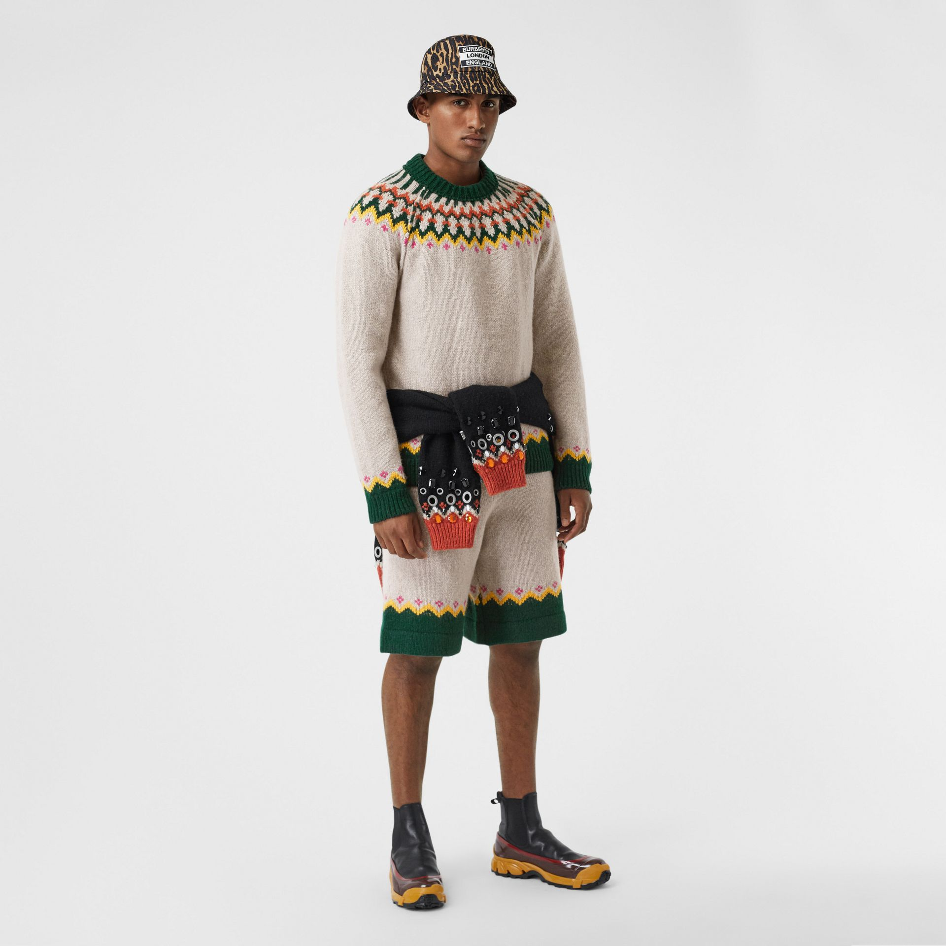 Fair Isle Wool Sweater in Sesame - Men | Burberry - gallery image 4