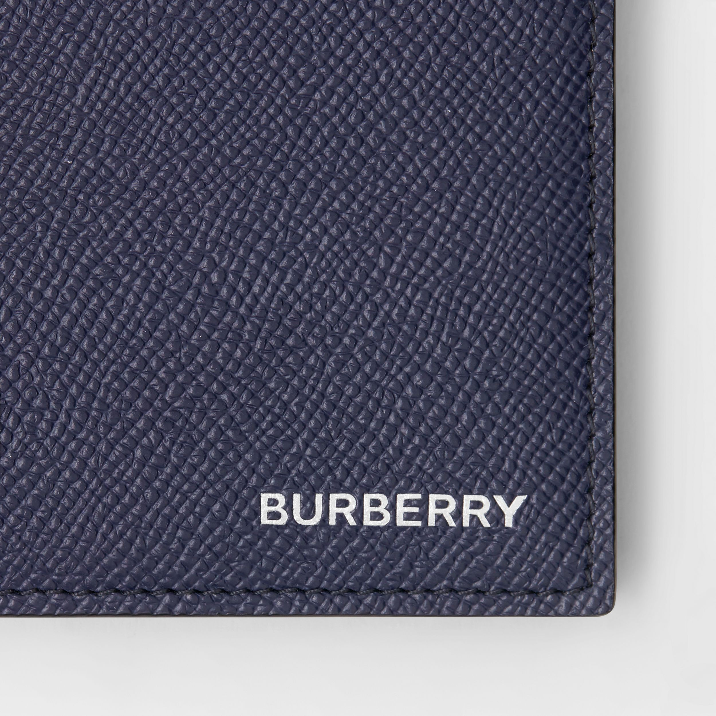 Grainy Leather International Bifold Coin Wallet in Regency Blue - Men | Burberry - 2