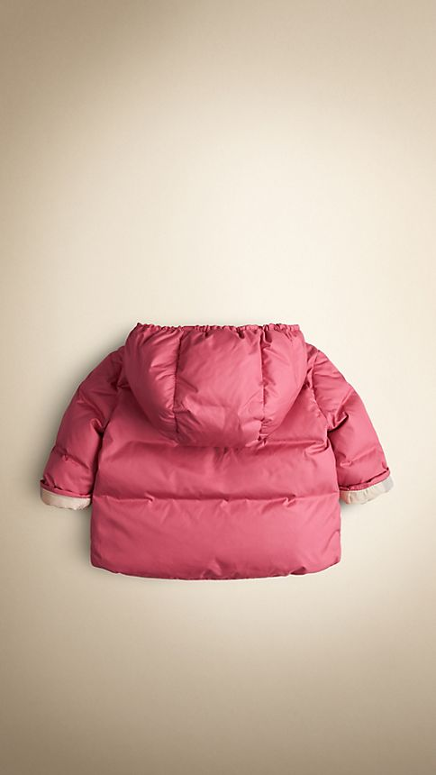 Camelia pink Check-Lined Puffer Jacket Camelia Pink - Image 2