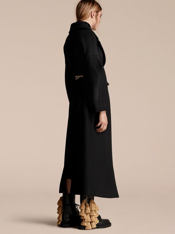 Black Puff-sleeved Wool Coat - cell image 2