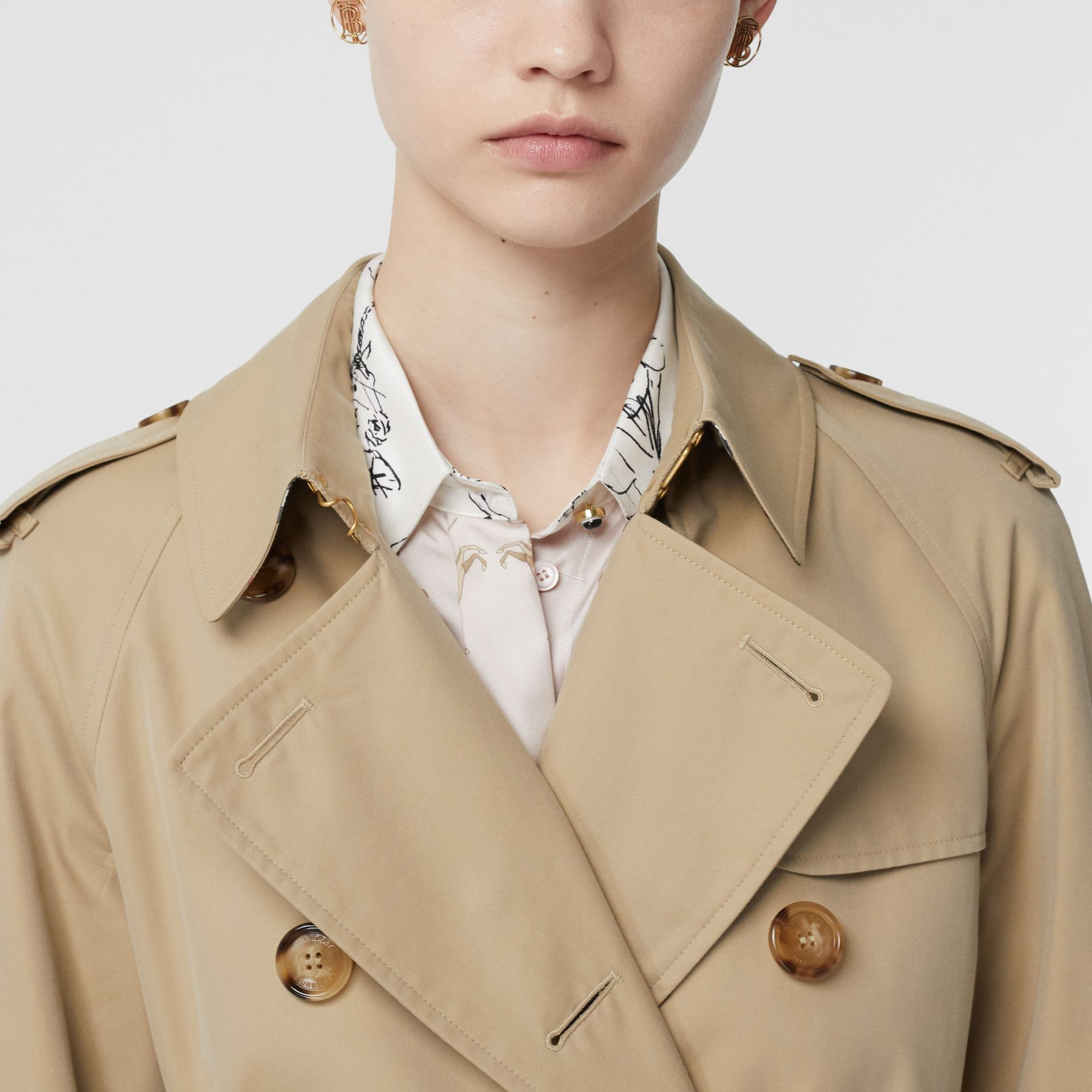 Trench coat Heritage The Waterloo (Miele) - Donna | Burberry - immagine della galleria 5