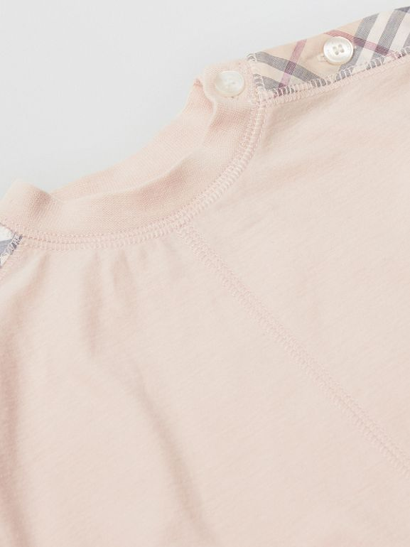 Check Cotton Three-piece Baby Gift Set in Pale Rose Pink - Children | Burberry - cell image 1