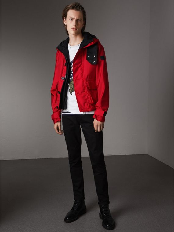 Nylon Canvas Deck Jacket with Detachable Warmer - Men | Burberry Hong Kong