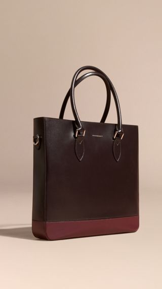 Sac tote en cuir London à empiècements