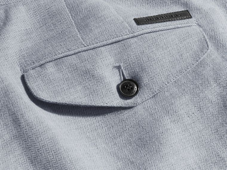 Pale blue Linen Cotton Chinos - cell image 1