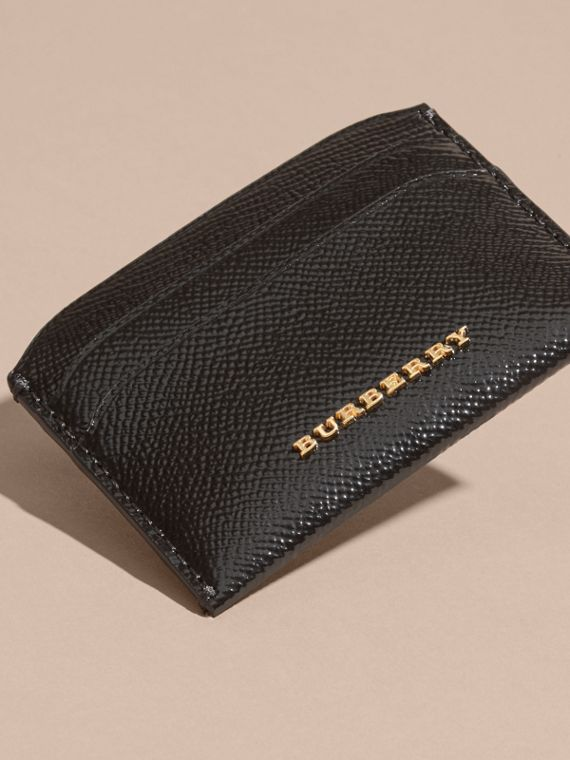 Black Check and Leather Card Case - cell image 2