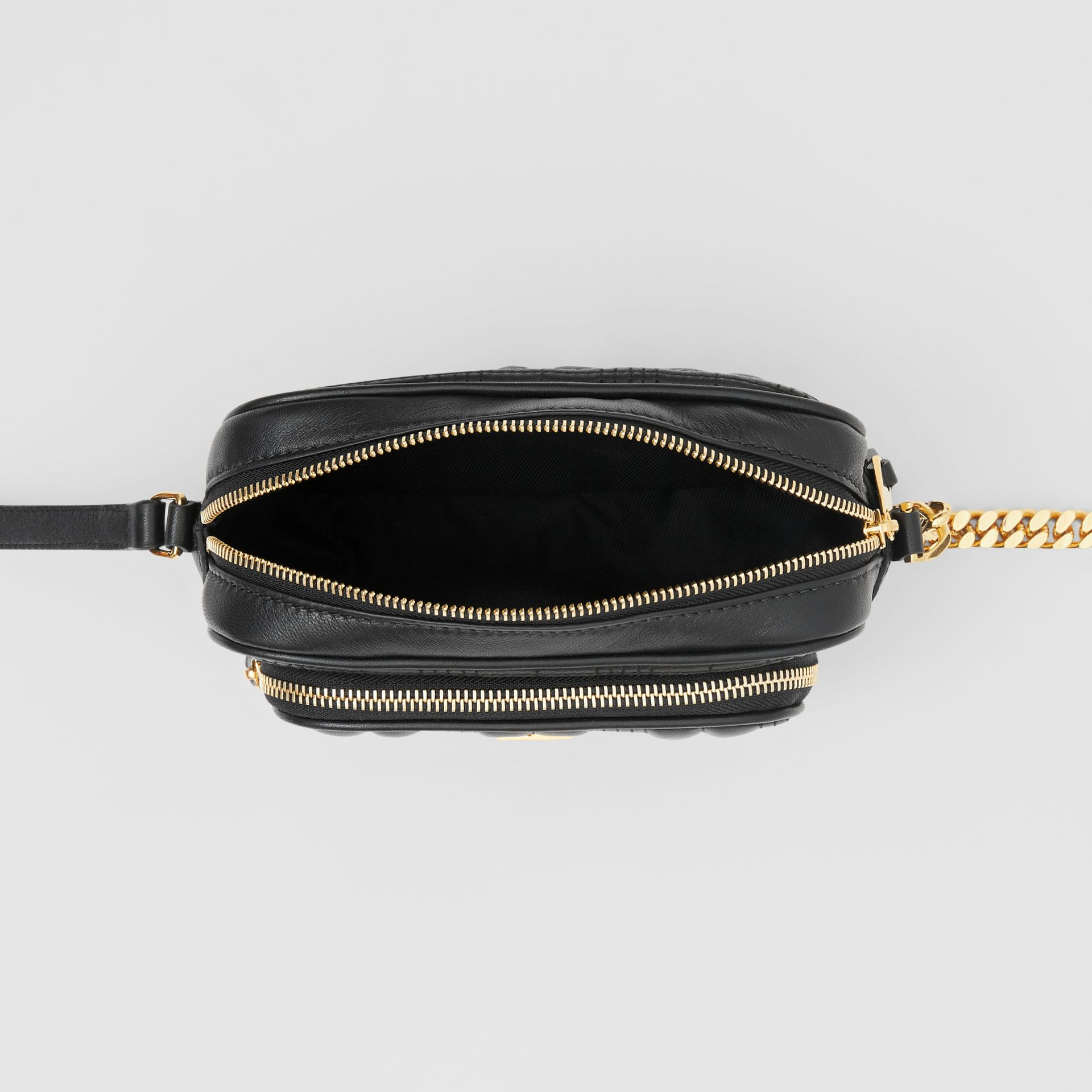 Small Quilted Lambskin Camera Bag in Black - Women | Burberry - gallery image 3