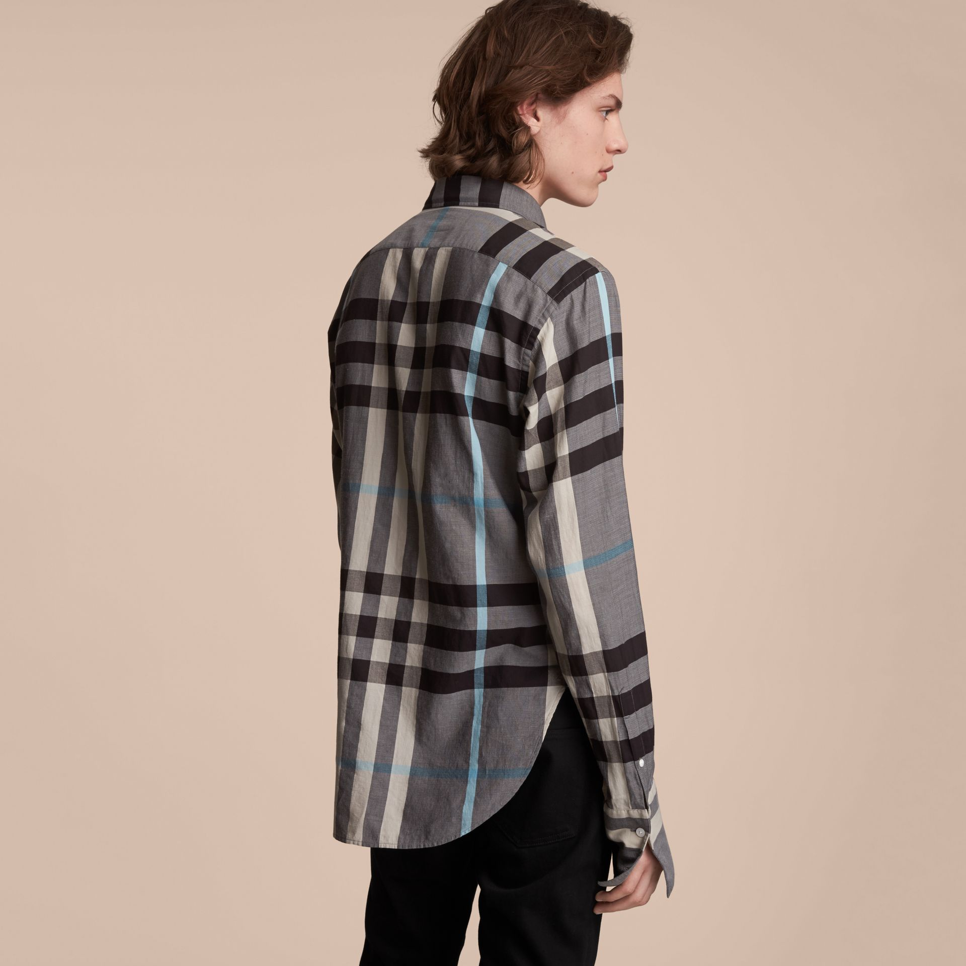 Double-cuff Pintuck Bib Check Cotton Shirt - Men | Burberry - gallery image 3