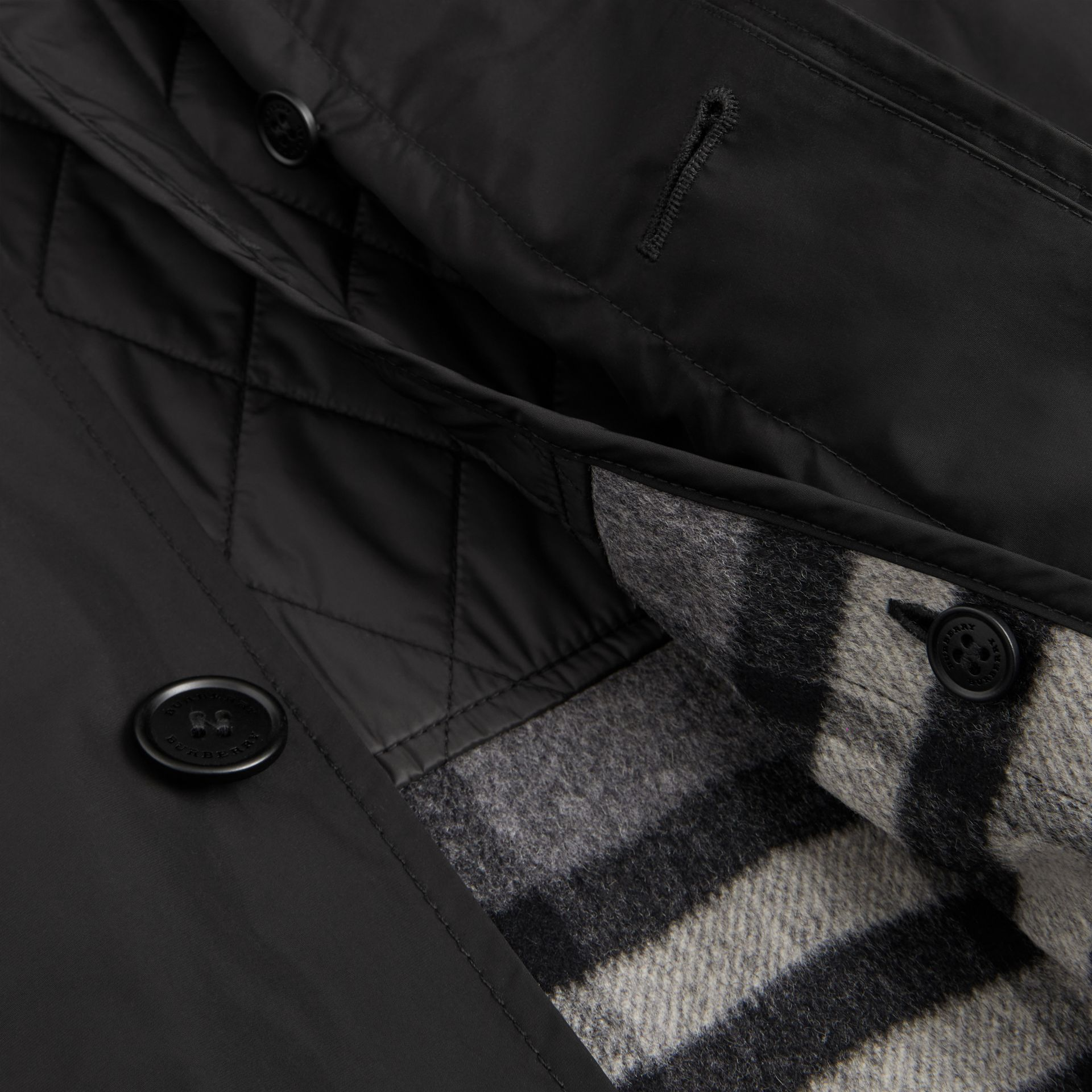 Shape-memory Taffeta Car Coat with Warmer in Black - Men | Burberry Australia - gallery image 1