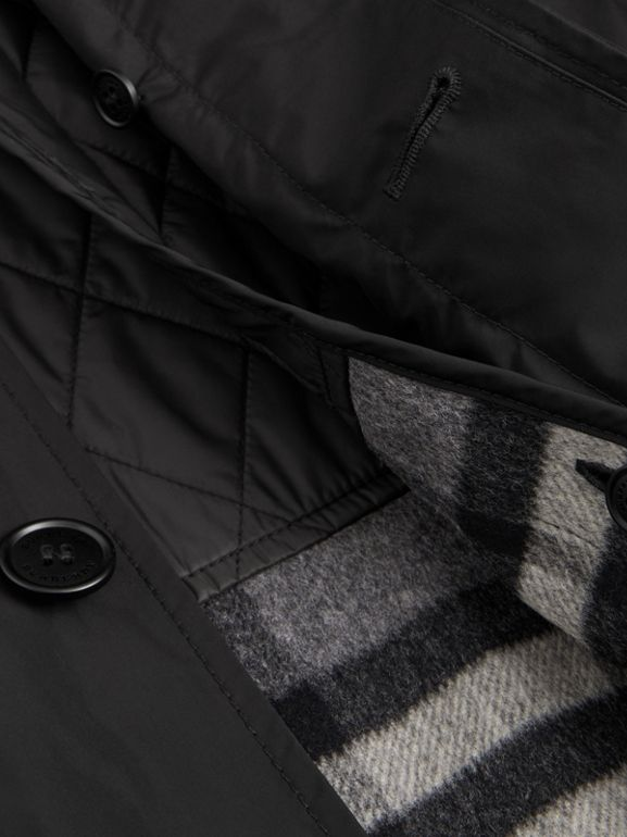 Shape-memory Taffeta Car Coat with Warmer in Black - Men | Burberry - cell image 1