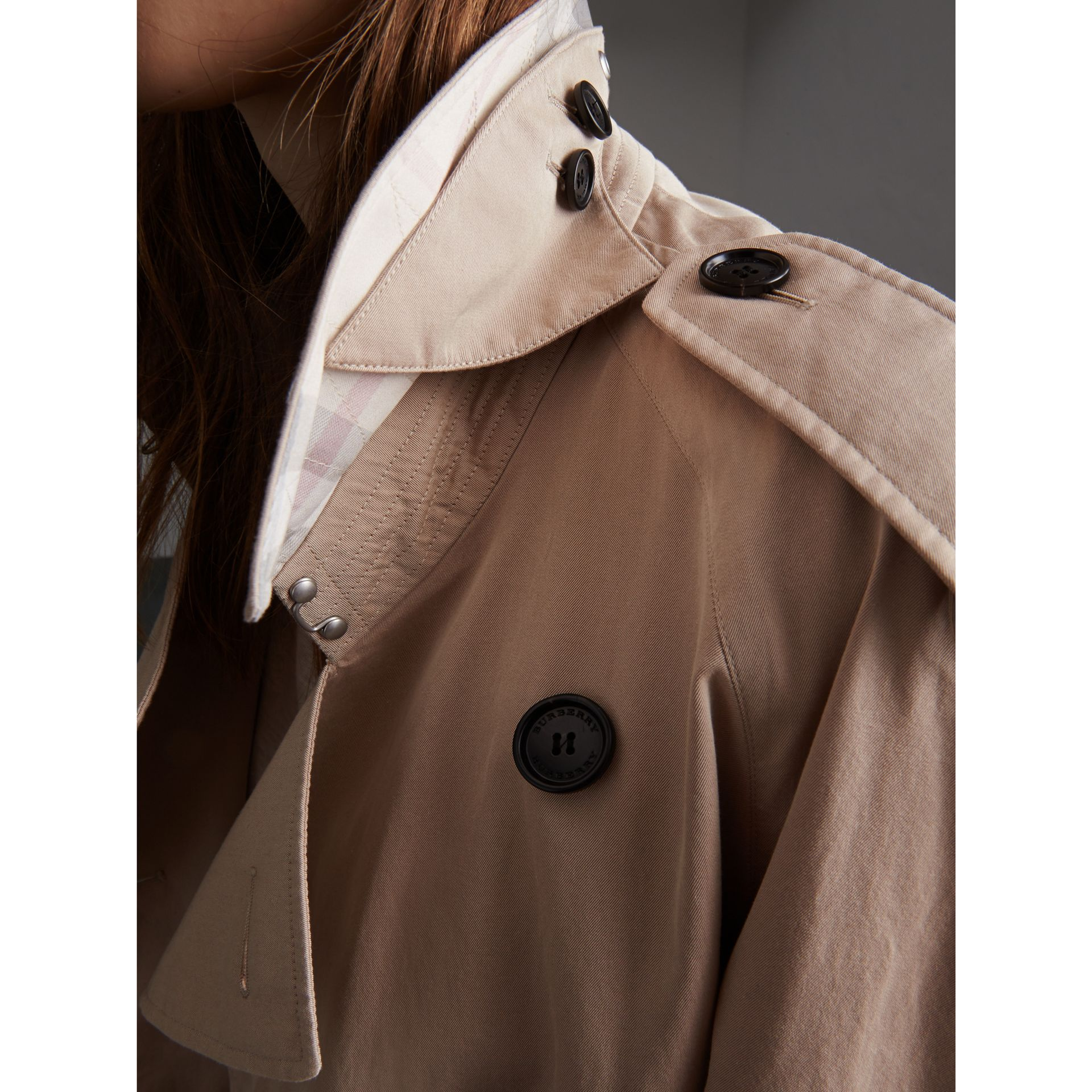 Unisex Tropical Gabardine Trench Jacket in Light Taupe - Women | Burberry - gallery image 5