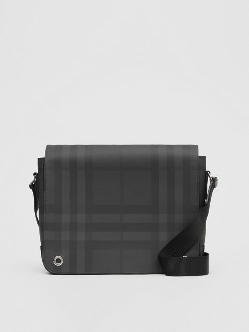 Burberry London Check and Leather Satchel