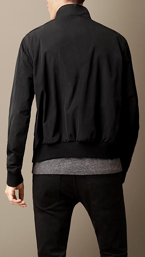 Black Zip Front Packaway Blouson - Image 2