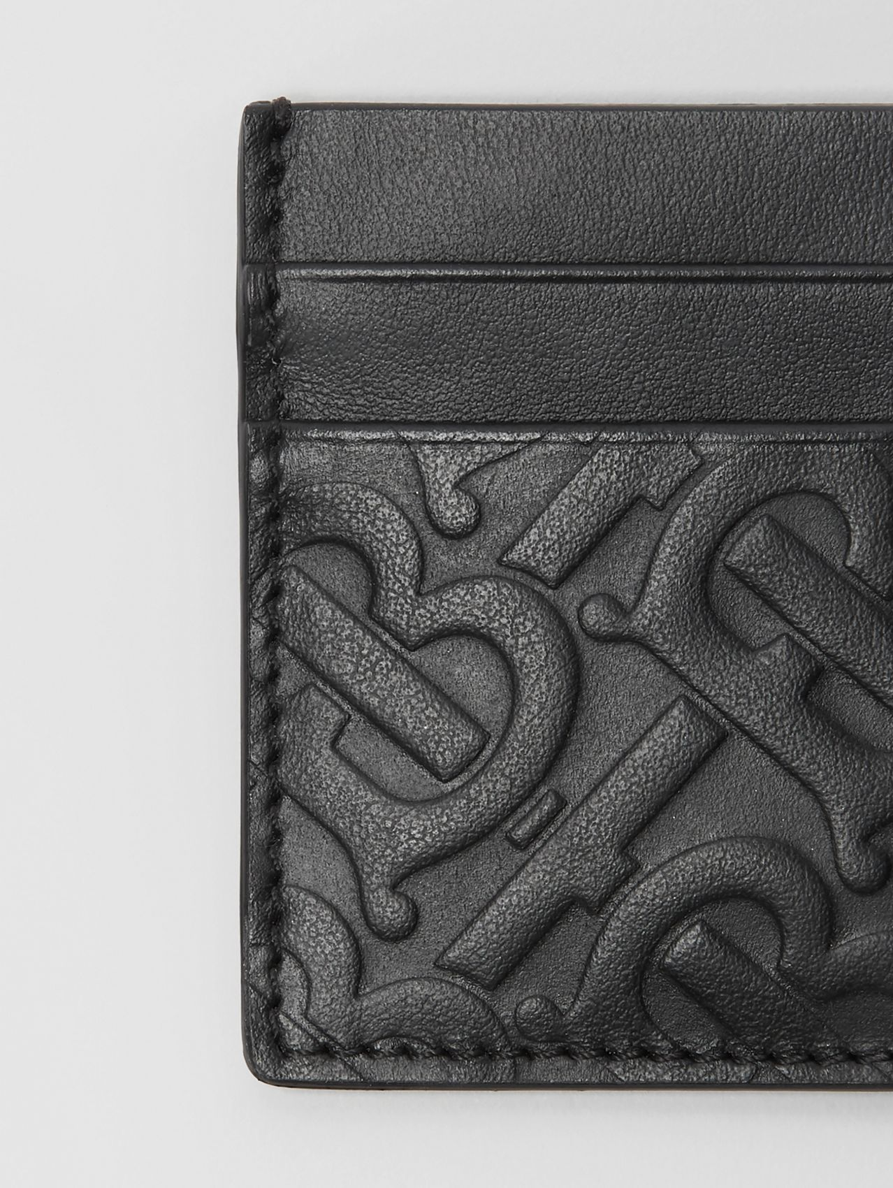 Monogram Leather Card Case in Black