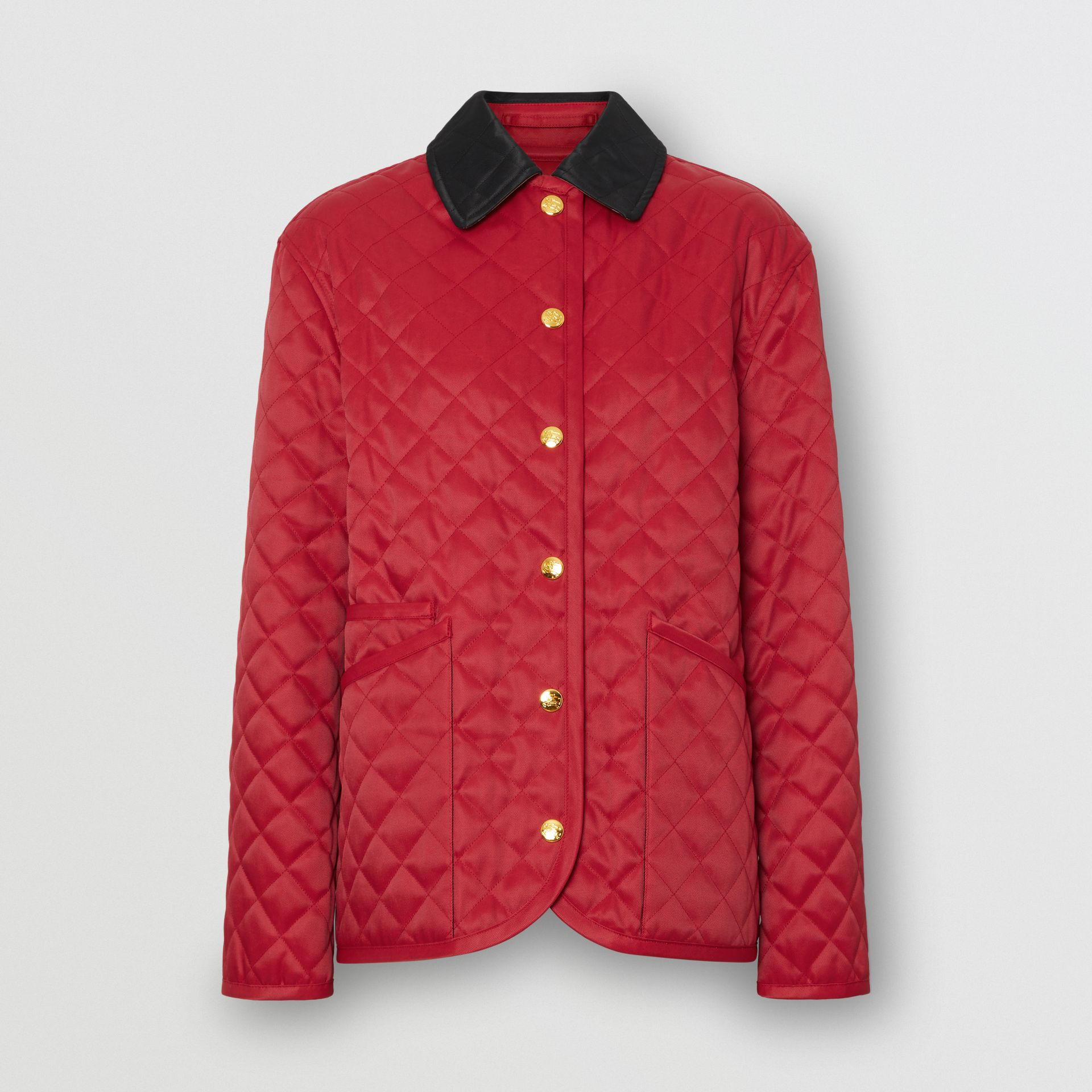 Diamond Quilted Barn Jacket in Red - Women | Burberry - gallery image 3