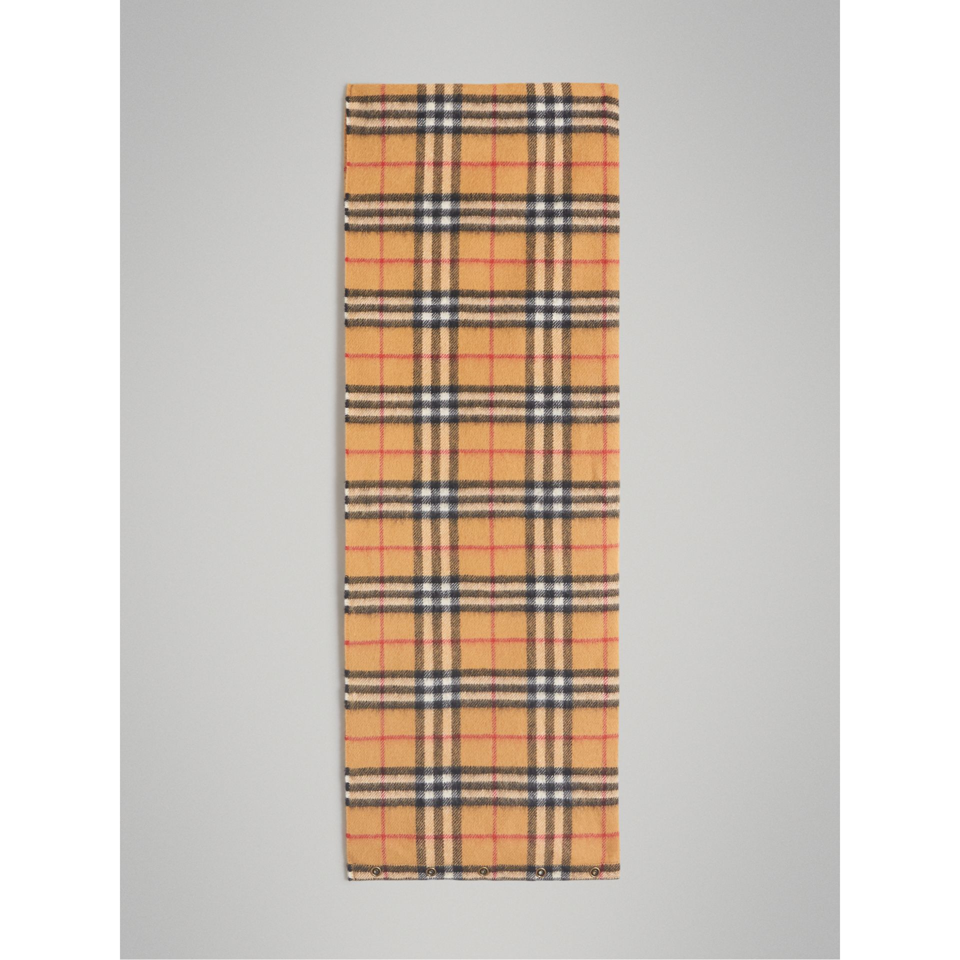 Vintage Check Cashmere Snood in Antique Yellow | Burberry - gallery image 2