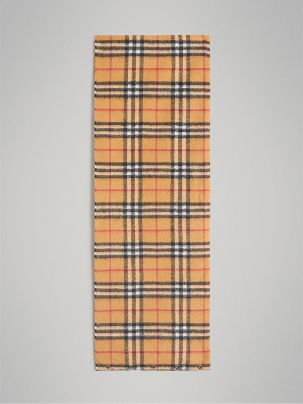 Vintage Check Cashmere Snood in Antique Yellow | Burberry Canada - cell image 2