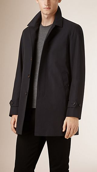 Down-Filled Cotton Gabardine Car Coat