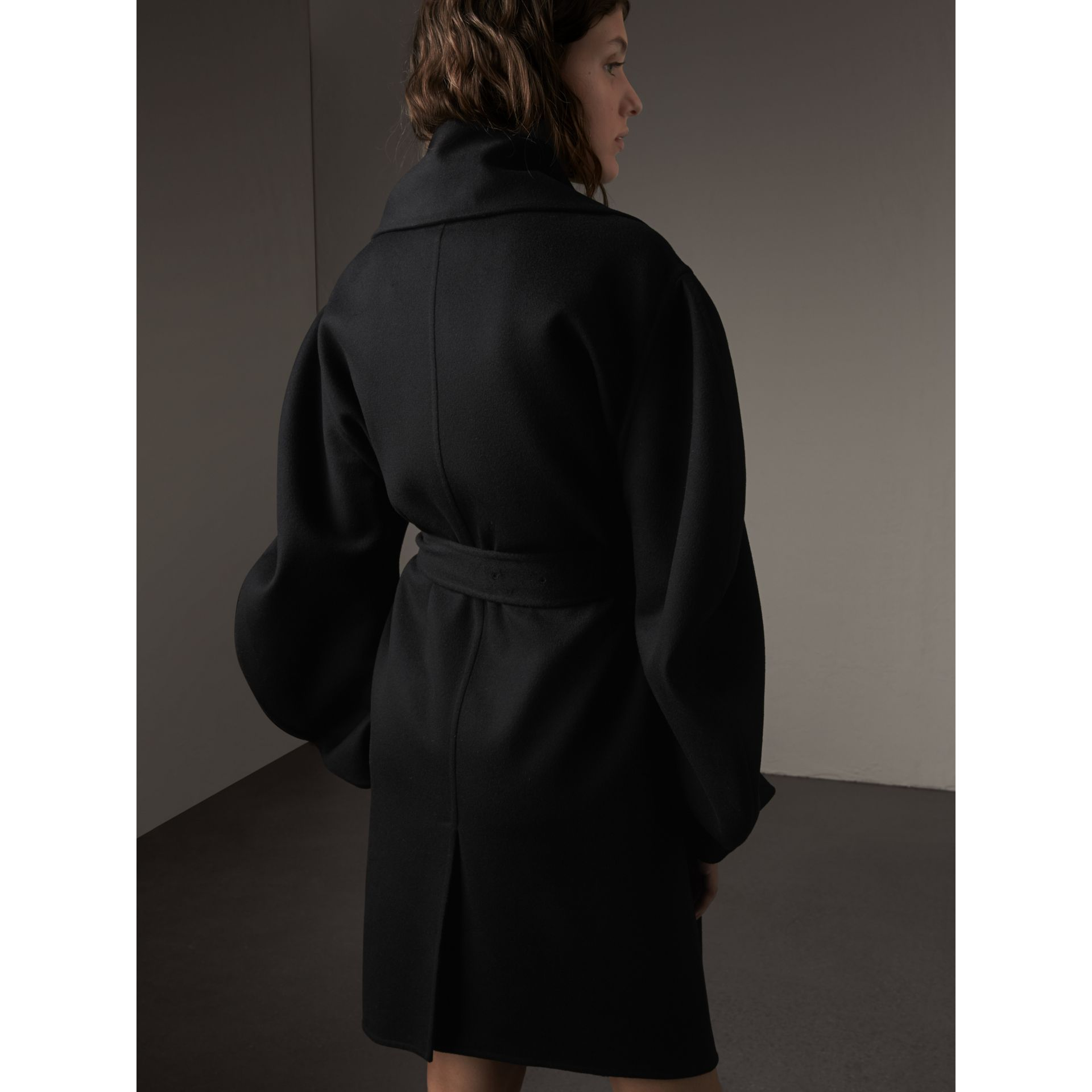 Double-faced Wool Cashmere Sculptural Coat - gallery image 3