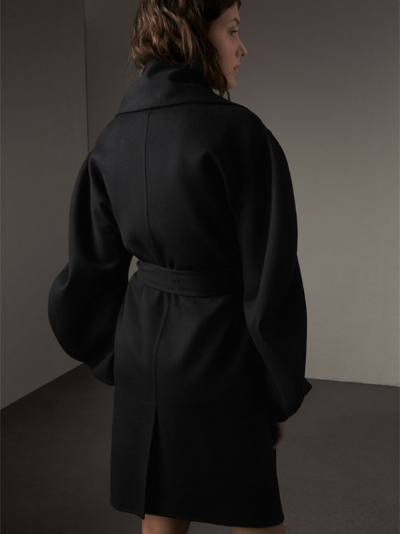 Double-faced Wool Cashmere Sculptural Coat - cell image 2