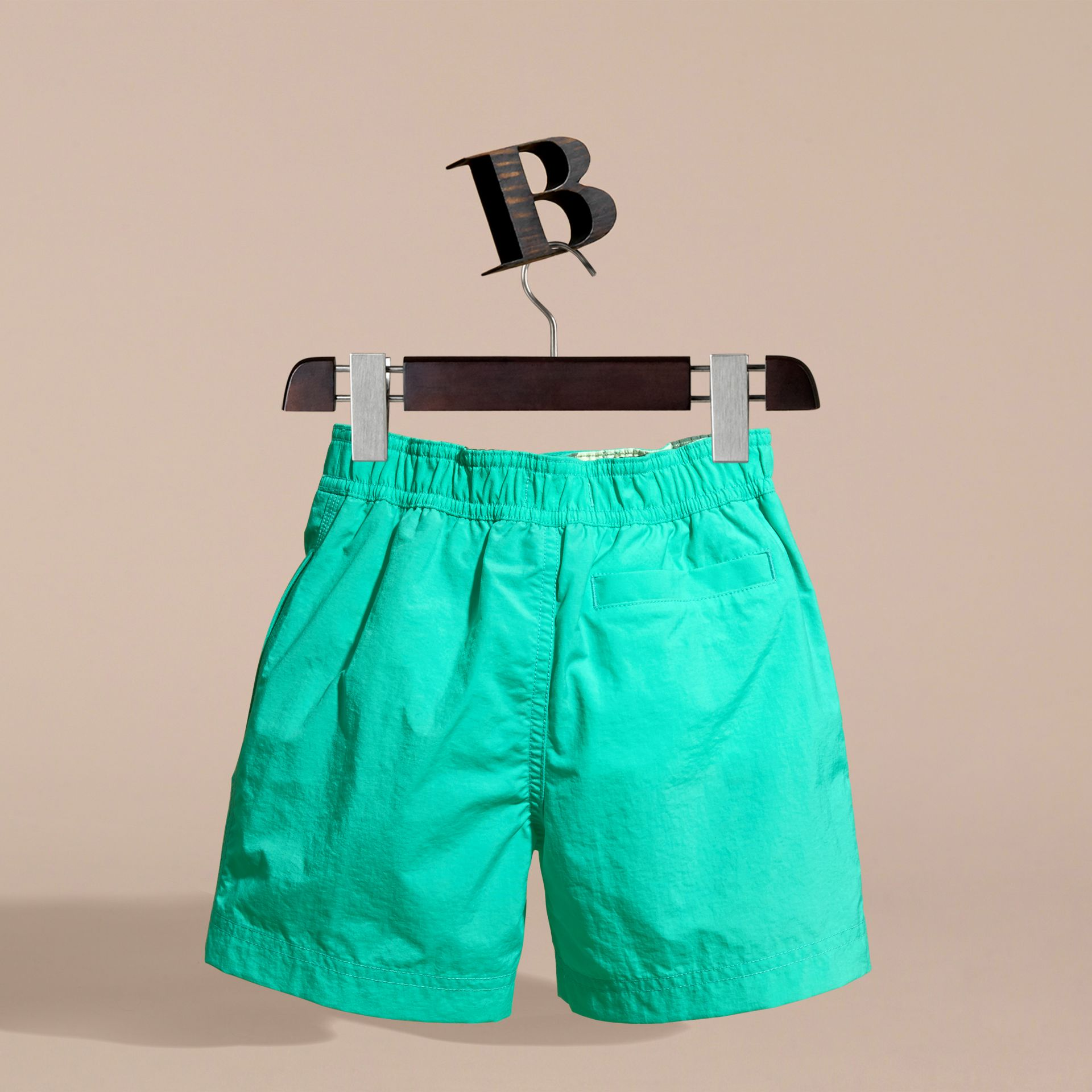 Lightweight Swim Shorts in Aqua Green - Boy | Burberry - gallery image 4