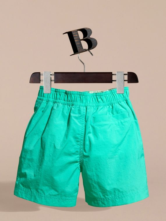 Lightweight Swim Shorts in Aqua Green - Boy | Burberry - cell image 3