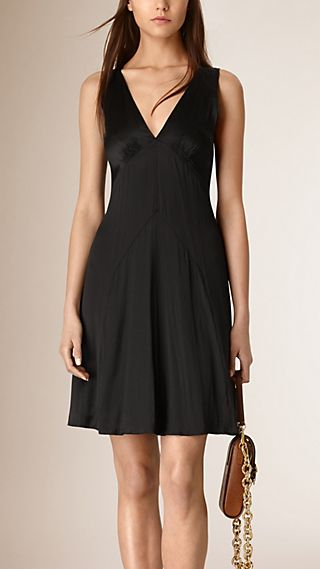 Sleeveless Silk Dress