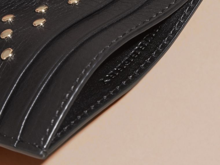 Black Studded Leather Card Case - cell image 4