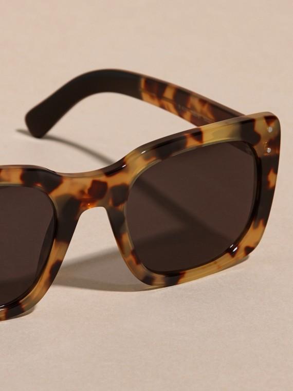 Tortoise amber Square Frame Sunglasses Tortoise Amber - cell image 3