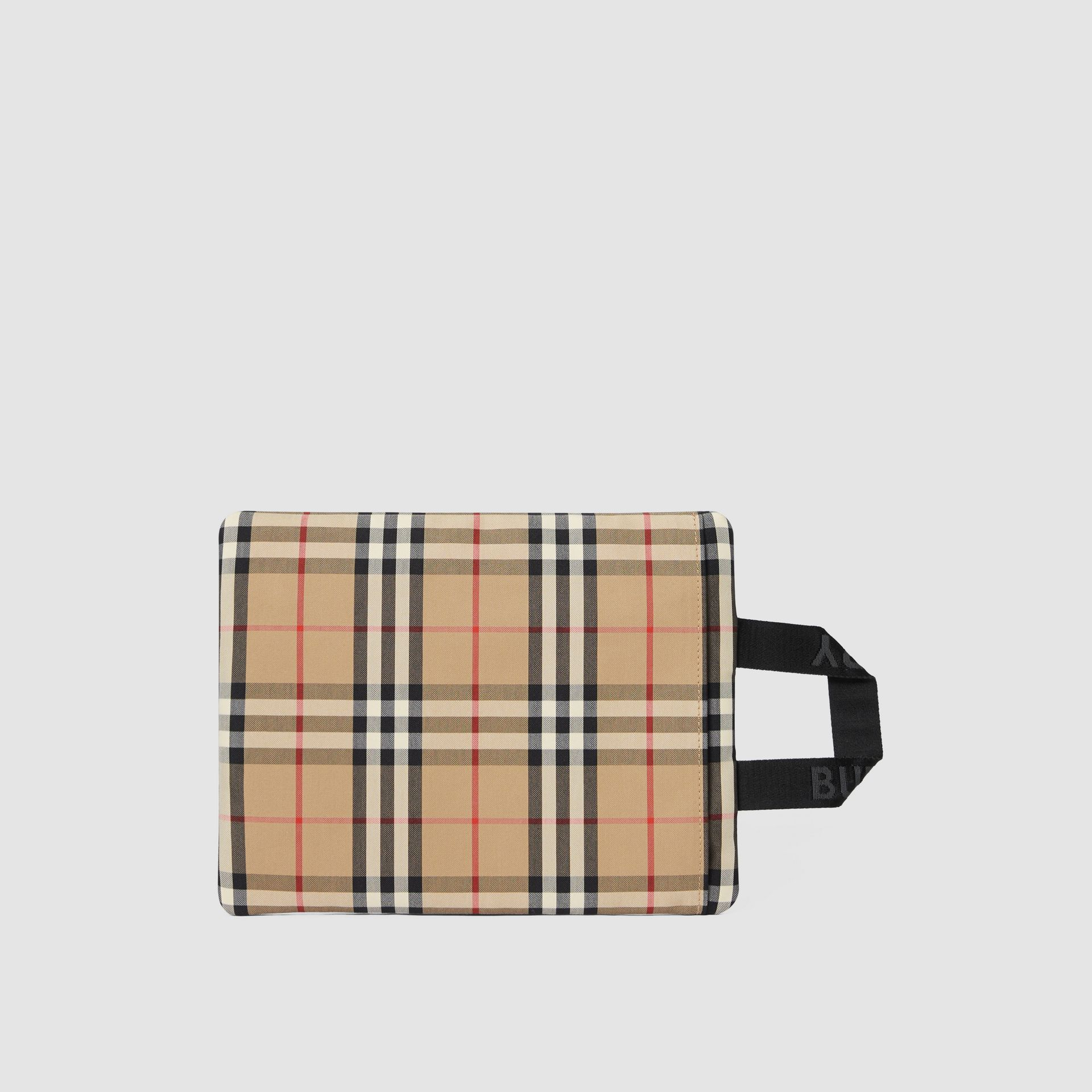 Logo Detail Vintage Check Portrait Pouch in Archive Beige | Burberry - gallery image 9