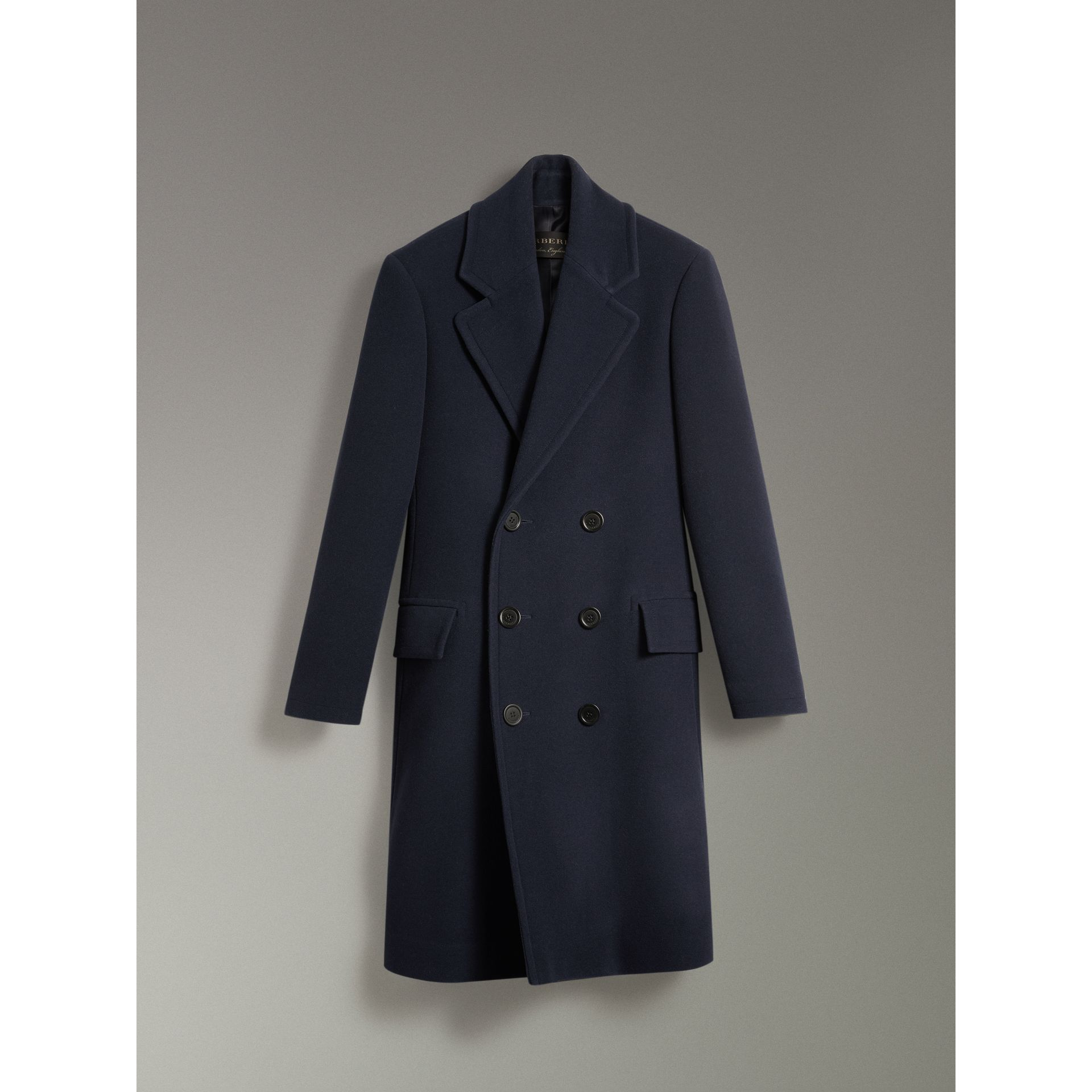 Wool Cashmere Overcoat in Dark Blue | Burberry Australia - gallery image 3