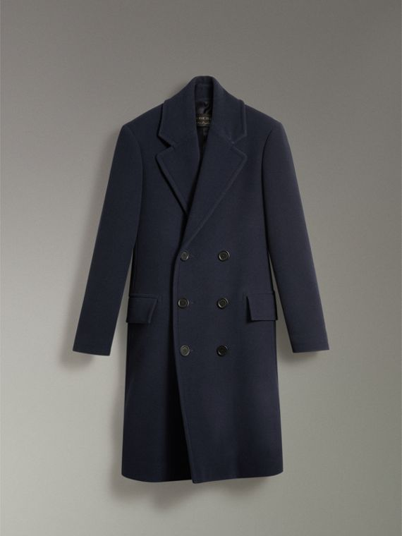 Wool Cashmere Overcoat in Dark Blue | Burberry United States - cell image 3