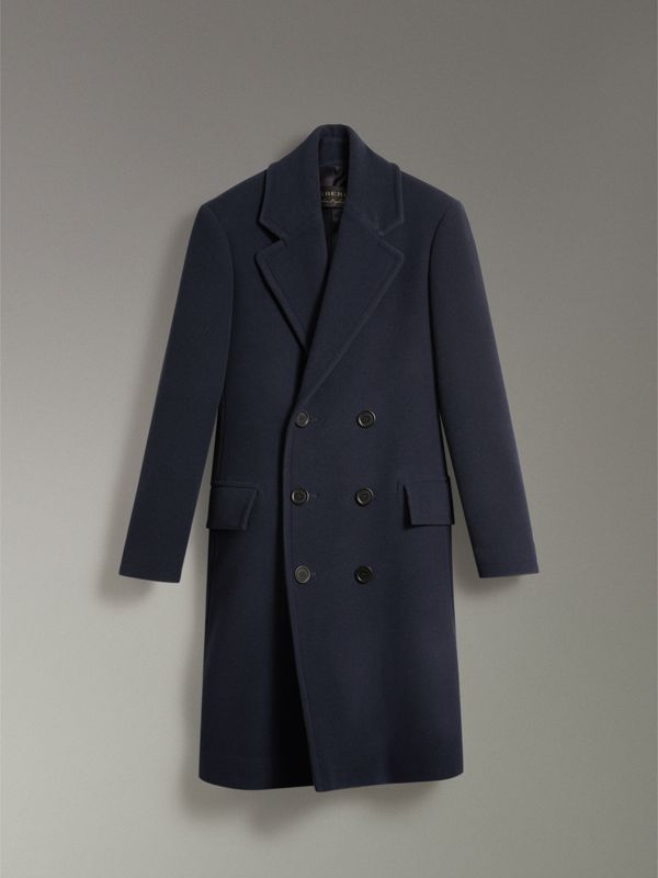 Wool Cashmere Overcoat in Dark Blue | Burberry - cell image 3