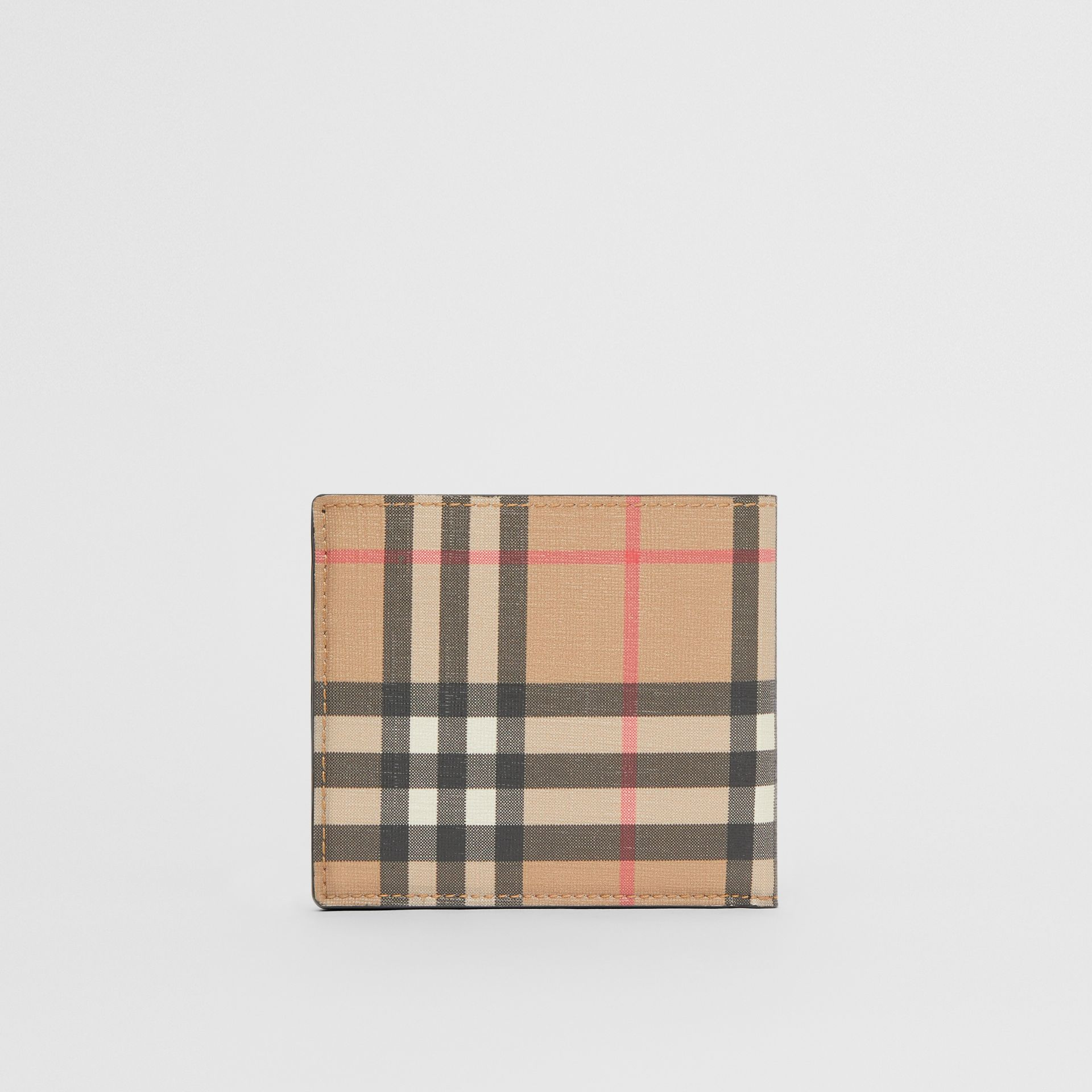 Vintage Check E-canvas International Bifold Wallet in Archive Beige - Men | Burberry - gallery image 4