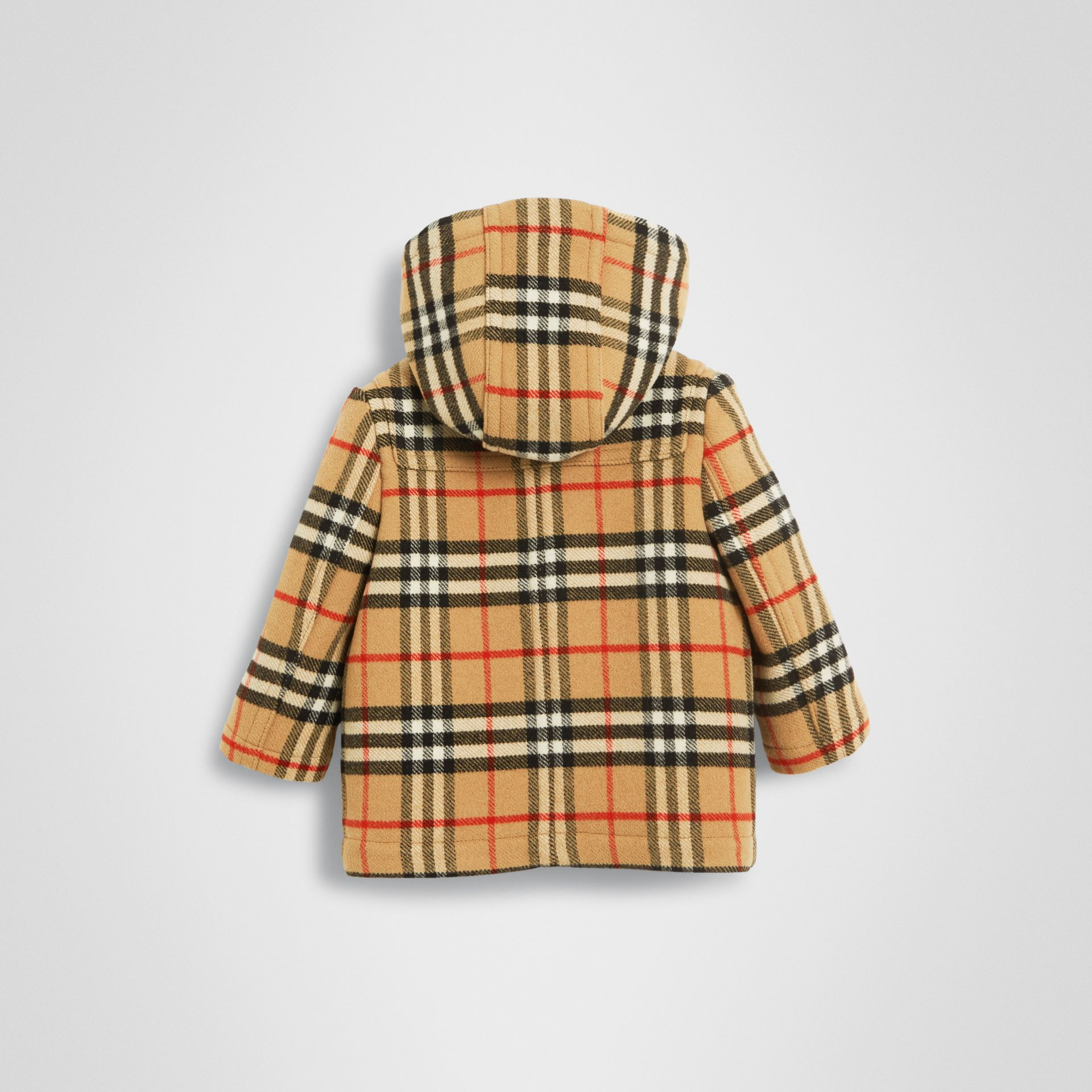 Vintage Check Wool Duffle Coat in Black - Children | Burberry - gallery image 3