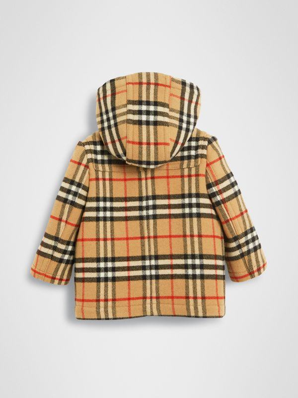 Vintage Check Wool Duffle Coat in Black - Children | Burberry - cell image 3
