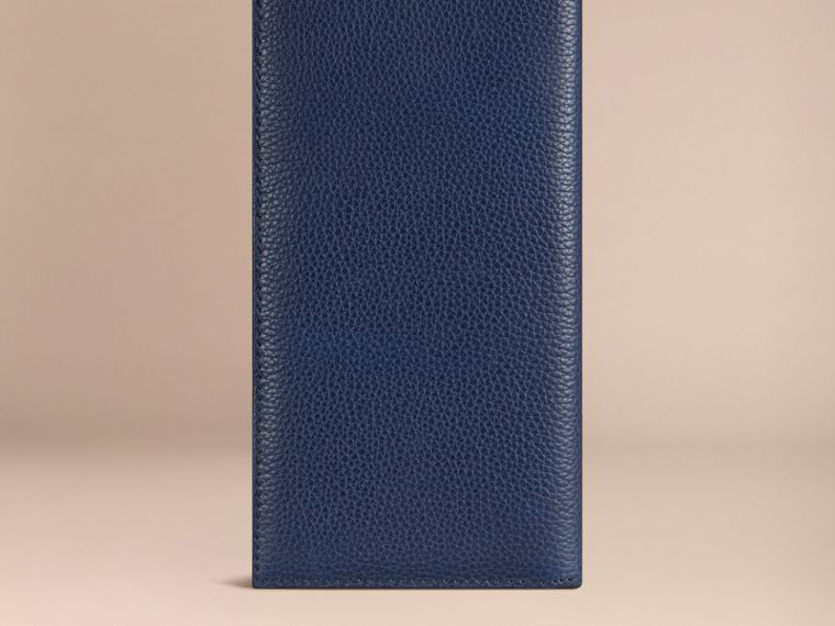 Grainy Leather Travel Card Case in Bright Navy - Men | Burberry - cell image 2