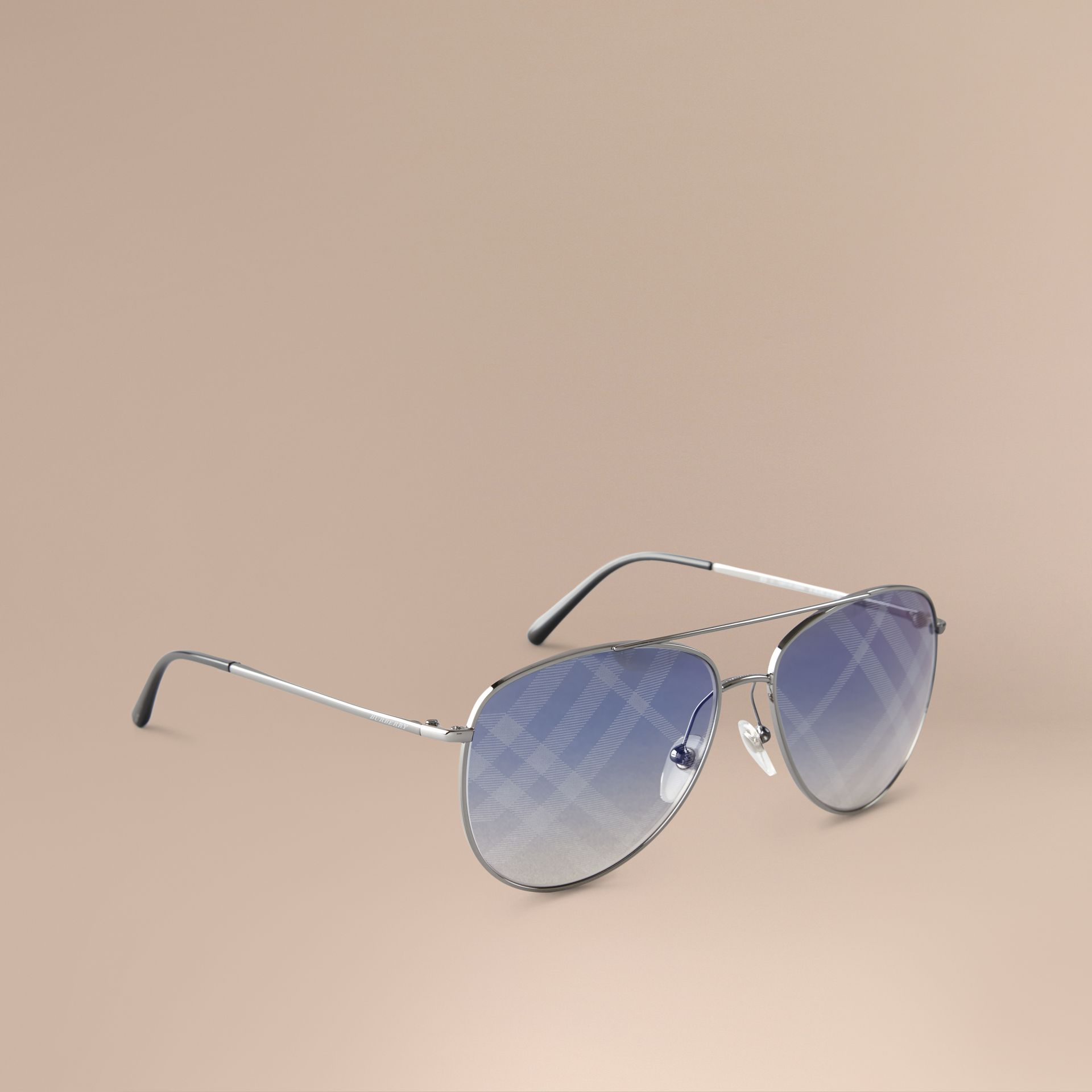 Check Lens Aviator Sunglasses - gallery image 1