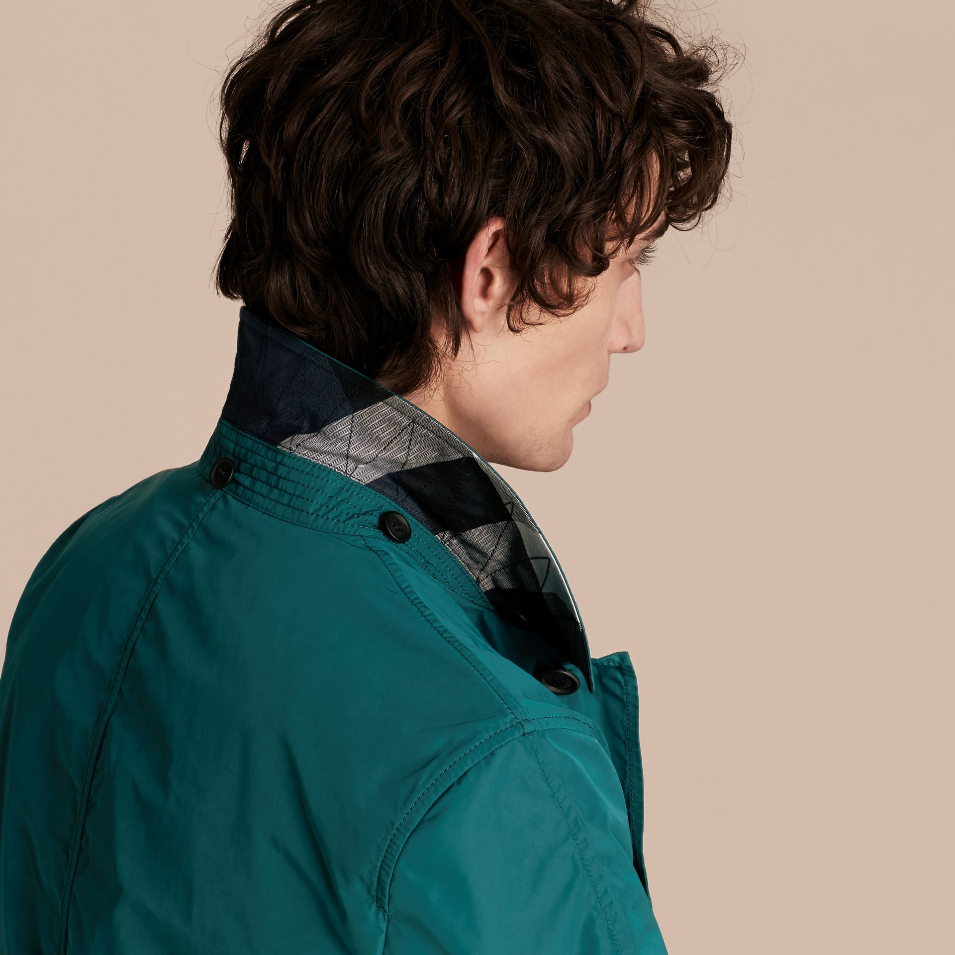 Showerproof Hooded Coat with Removable Warmer Bright Teal - gallery image 5
