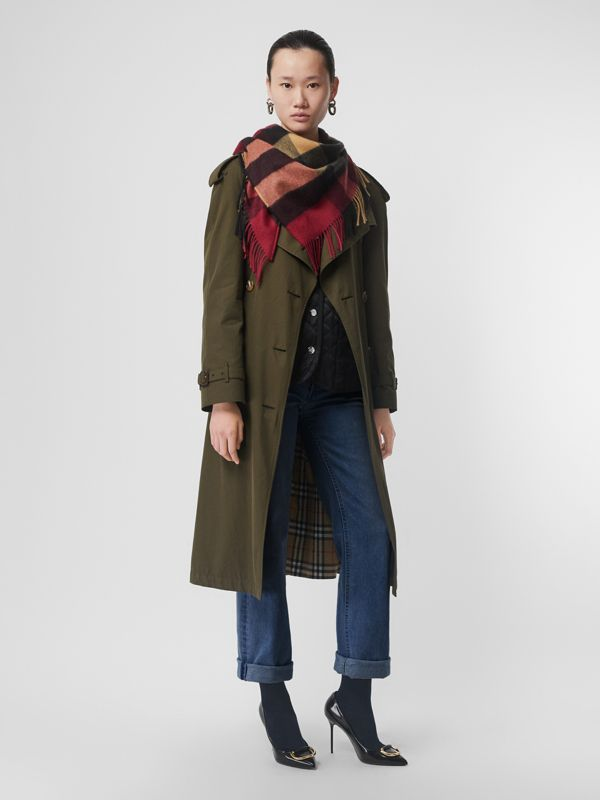 The Burberry Bandana in Check Cashmere in Damson Pink | Burberry United States - cell image 2