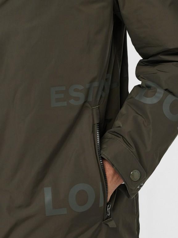 Horseferry Print Shape-memory Taffeta Hooded Coat in Khaki - Men | Burberry - cell image 1