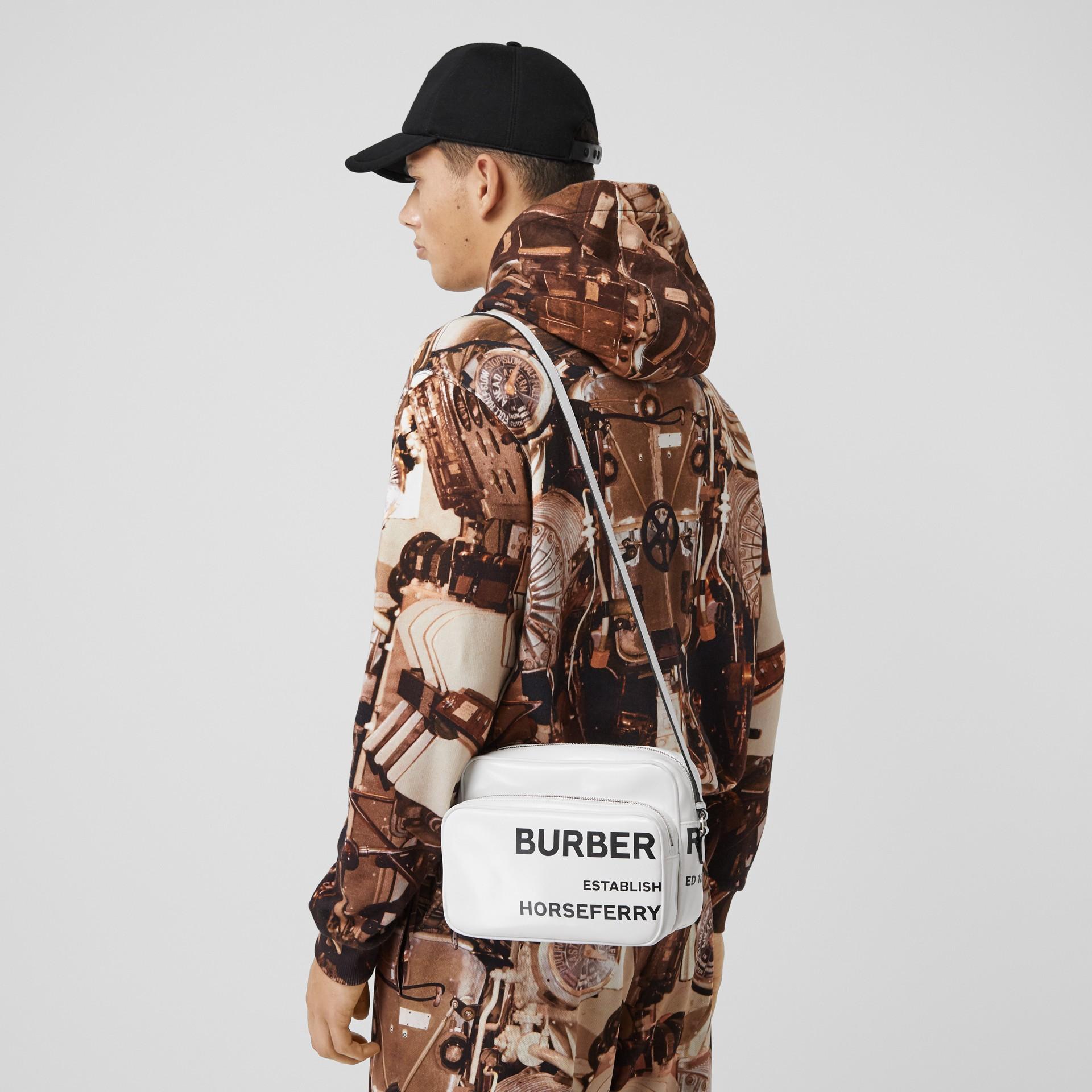 Medium Horseferry Print Camera Bag in White | Burberry - gallery image 11