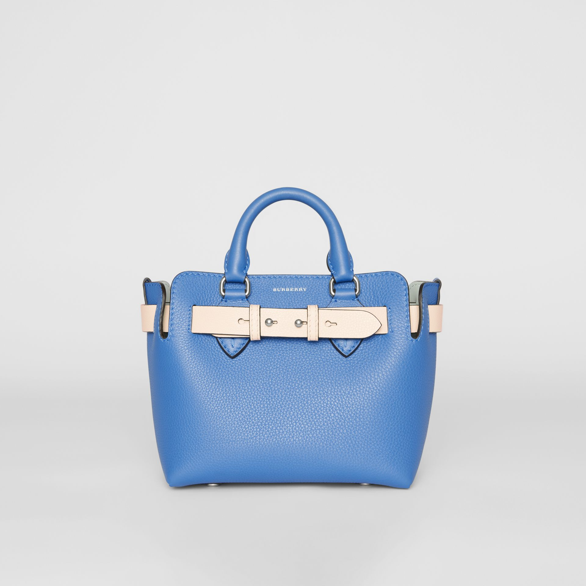 The Mini Leather Belt Bag in Hydrangea Blue - Women | Burberry - gallery image 0