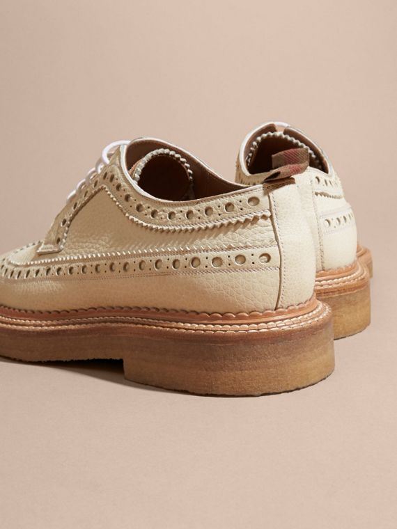 Leather Wingtip Brogues Off White - cell image 3