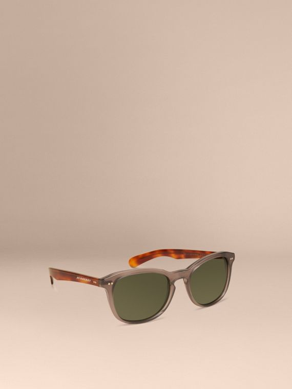 Square Frame Sunglasses Smokey Grey