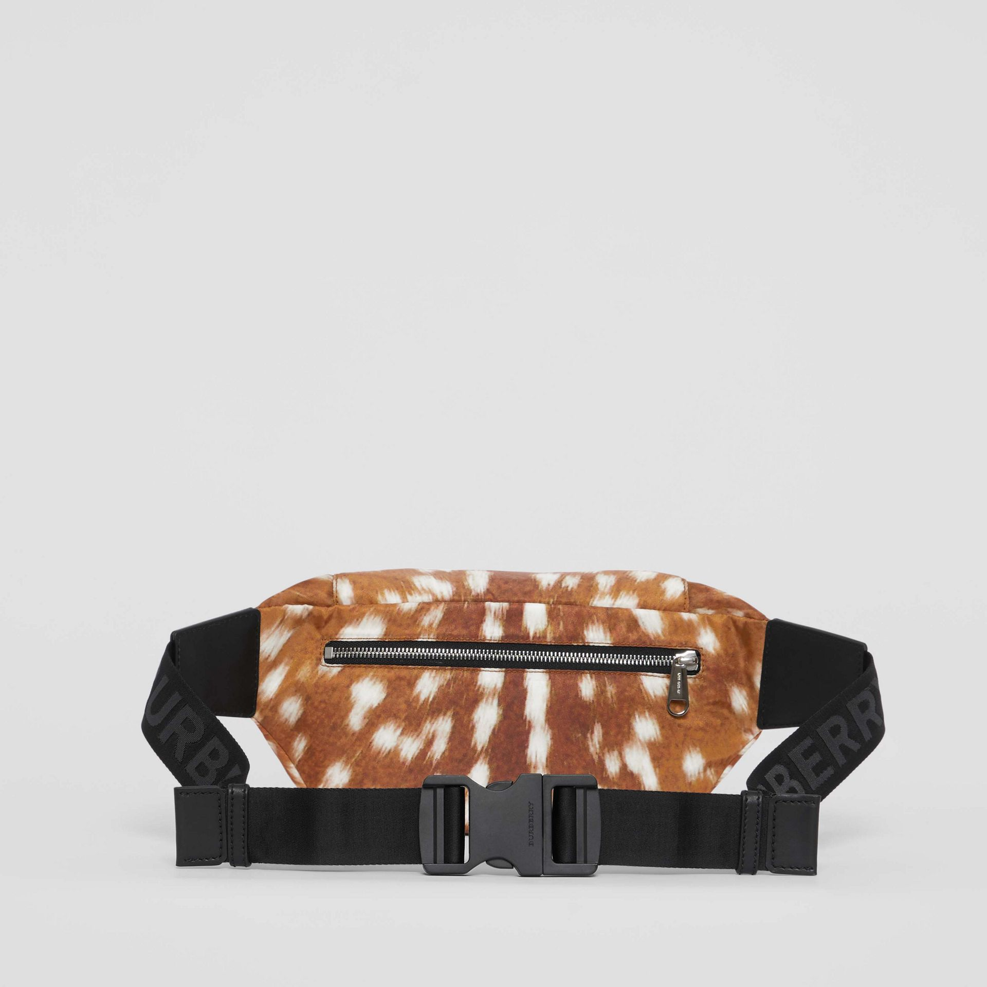 Medium Deer Print Bum Bag in Tan/white - Men | Burberry - gallery image 9