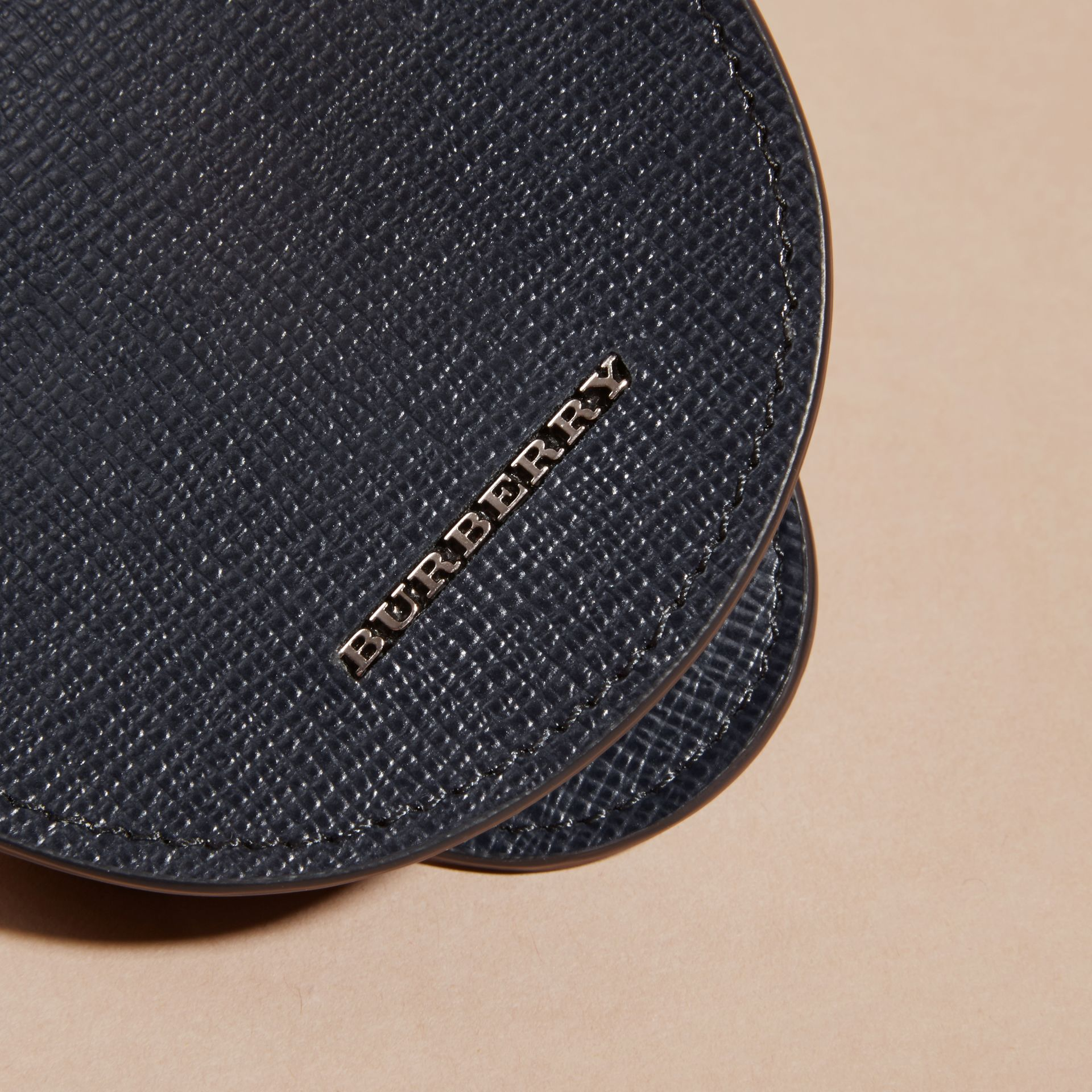 London Leather Coin Case in Dark Navy - gallery image 2