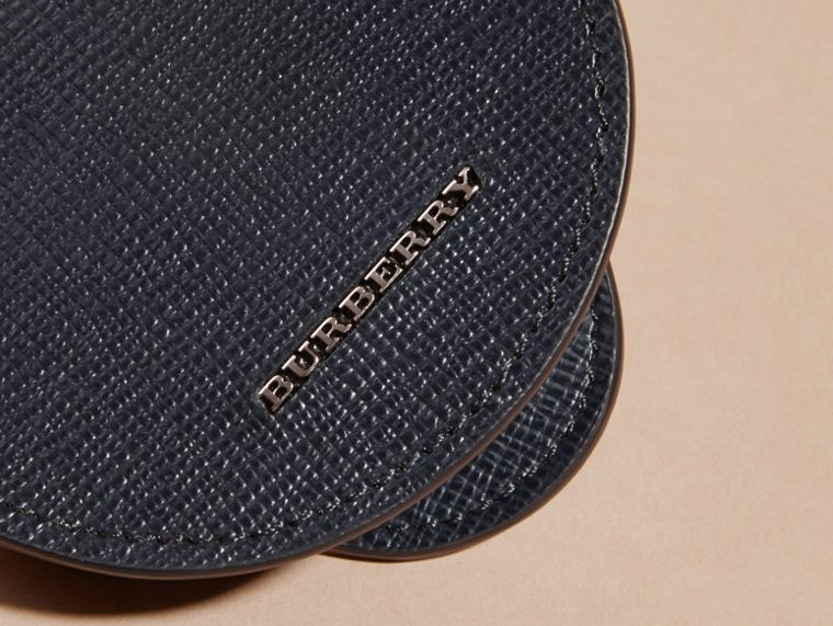 London Leather Coin Case in Dark Navy - Men | Burberry - cell image 1