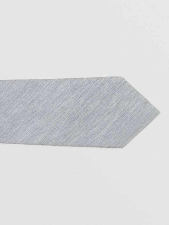 Classic Cut Silk Jersey Tie in Light Pebble Grey | Burberry - cell image 1