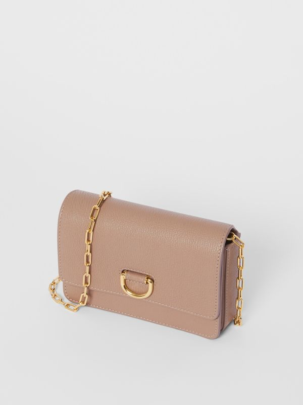 The Mini Grainy Leather D-ring Bag in Pale Mink - Women | Burberry - cell image 3
